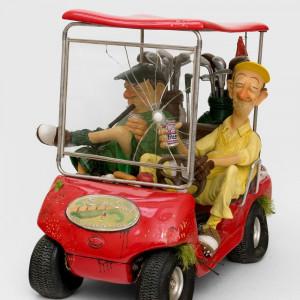 Golfový vozík červený
